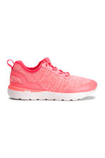 Sneakers in jersey - Rosa neon mélange -  | H&M IT 2