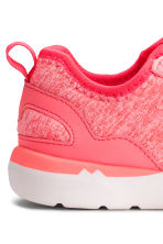 Sneakers in jersey - Rosa neon mélange -  | H&M IT 5