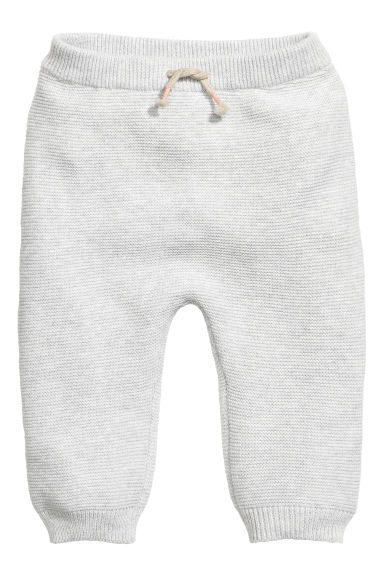 Knitted trousers - Light grey marl - Kids | H&M CN 1
