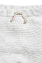 Knitted trousers - Light grey marl - Kids | H&M CN 2