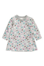 Sweatshirt dress - Grey/Spotted - Kids | H&M CN 1