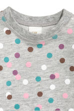 Sweatshirt dress - Grey/Spotted - Kids | H&M CN 2