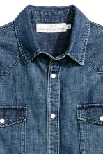 Denim shirt - Dark denim blue - Men | H&M 4