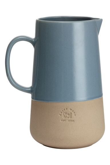 Stoneware jug - Grey-blue - Home All | H&M CN 1
