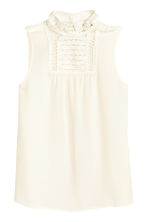 Blouse with macramé details - Natural white - Ladies | H&M CN 2