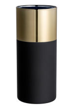 Glass vase - Black/Gold - Home All | H&M GB 2