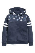 Hooded top with a print motif - Dark blue -  | H&M CN 2