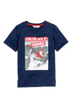 Printed T-shirt - Dark blue/Santa - Kids | H&M CN 2