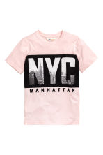 Printed T-shirt - Light pink/New York - Kids | H&M CN 2
