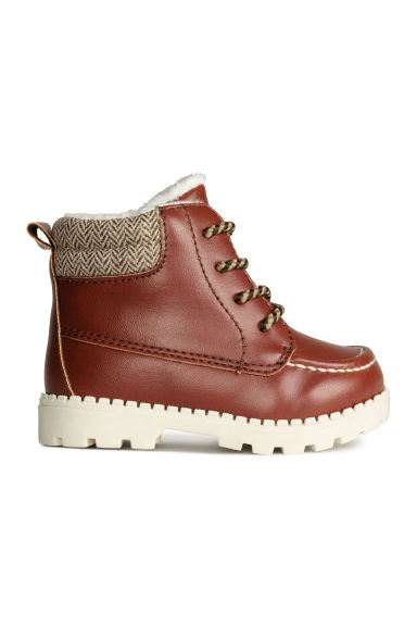 Pile-lined boots - Cognac brown - Kids | H&M CN 1