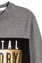 Long-sleeved printed T-shirt - Dark grey/Parental Advisory - Kids | H&M CN 3