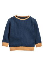 Long-sleeved T-shirt - Dark blue - Kids | H&M CN 1