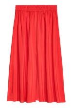 Skirt with a slit - Red - Ladies | H&M CN 2