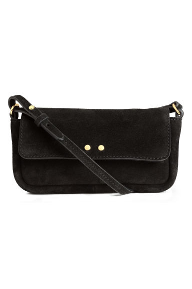 Suede shoulder bag - Black - Ladies | H&M CN 1