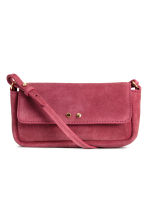 Suede shoulder bag - Raspberry red - Ladies | H&M CN 2