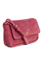 Suede shoulder bag - Raspberry red - Ladies | H&M CN 3