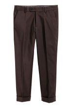 Suit trousers in scuba fabric - Dark brown - Men | H&M CN 2