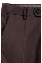 Suit trousers in scuba fabric - Dark brown - Men | H&M CN 4