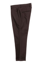 Suit trousers in scuba fabric - Dark brown - Men | H&M CN 3