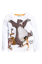 Long-sleeved T-shirt - White/The Jungle Book - Kids | H&M CN 2