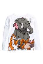Long-sleeved T-shirt - White/The Jungle Book - Kids | H&M CN 3