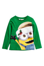 Long-sleeved T-shirt - Green/Minions - Kids | H&M CN 2