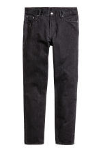 Slim Regular Tapered Jeans - Nearly black - HOMEM | H&M PT 2