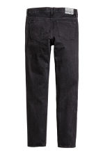 Slim Regular Tapered Jeans - Nearly black - HOMEM | H&M PT 3