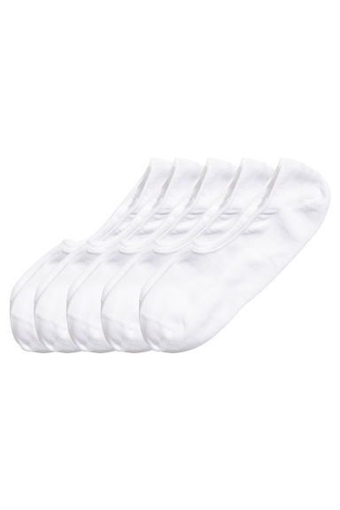 7-pack shaftless socks - White - Men | H&M CN 1