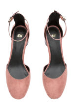 Ankle-strap court shoes - Powder pink - Ladies | H&M GB 3