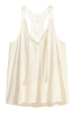 Top with a lace back - Natural white - Ladies | H&M CN 2