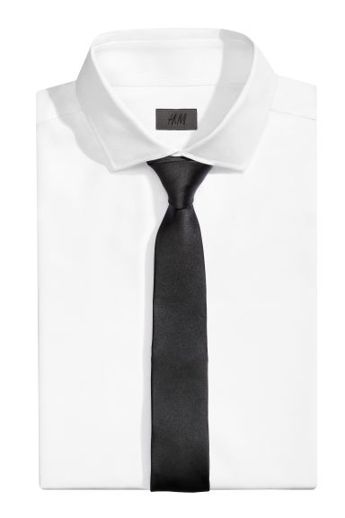 Satin tie - Black - Men | H&M IE 1