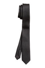 Satin tie - Black - Men | H&M IE 2