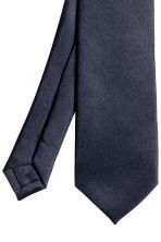 Satin tie - Dark blue - Men | H&M CN 3