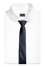 Satin tie - Dark blue - Men | H&M CN 1