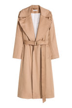 Wool-blend coat - Beige - Ladies | H&M CN 2