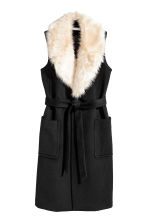 Long wool-blend coat - Black - Ladies | H&M CN 2