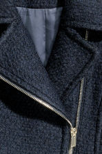 Wool-blend coat - Dark blue - Ladies | H&M CN 3