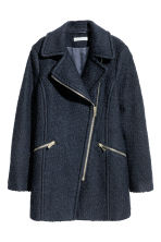 Wool-blend coat - Dark blue - Ladies | H&M CN 2