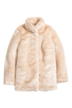 Faux fur jacket - Light beige - Ladies | H&M CN 2
