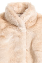 Faux fur jacket - Light beige - Ladies | H&M CN 3