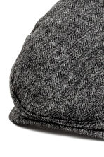 Flat cap - Black marl - Men | H&M CN 2