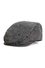 Flat cap - Black marl - Men | H&M CN 1
