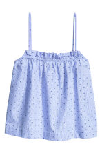 Plumeti strappy top - Blue/Spotted - Ladies | H&M CN 2