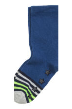 5-pack anti-slip socks - Dark blue/Striped -  | H&M CN 4