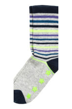 5-pack anti-slip socks - Dark blue/Striped -  | H&M CN 3