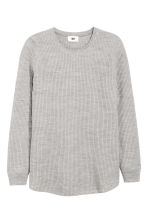 Wool-blend jumper - Light grey - Men | H&M CN 2