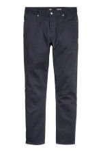 Twill trousers Slim fit - Dark blue - Men | H&M 4