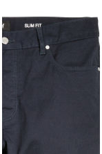 Twill trousers Slim fit - Dark blue - Men | H&M CN 5