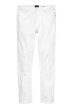 Twill trousers Slim fit - White - Men | H&M 2